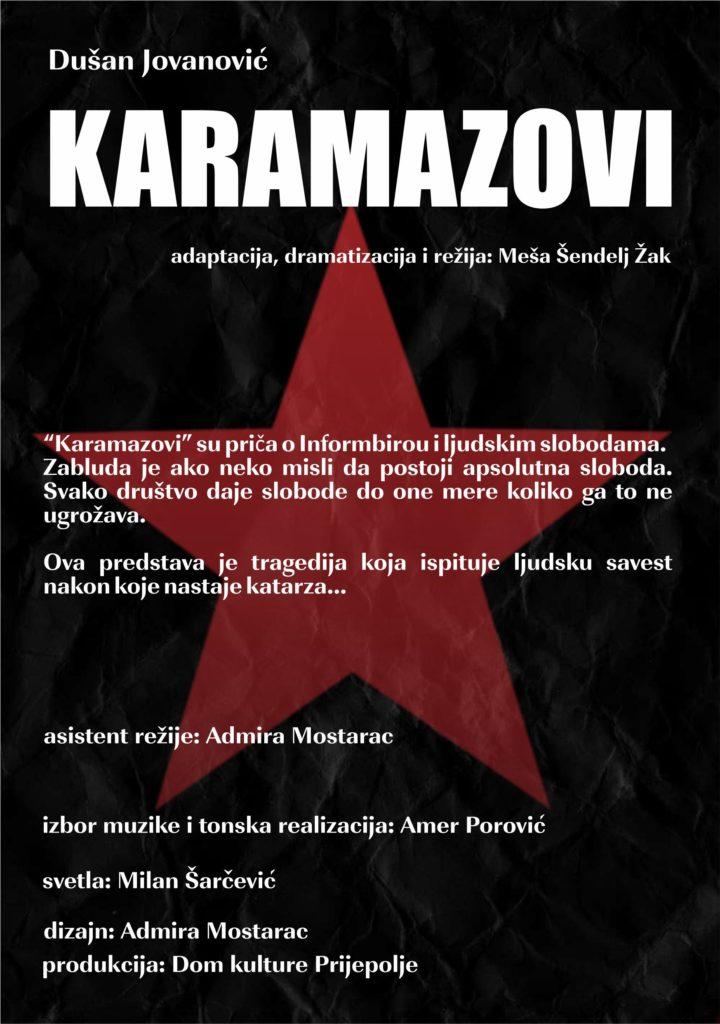 U četvrtak premijera pozorišne predstave KARAMAZOVI