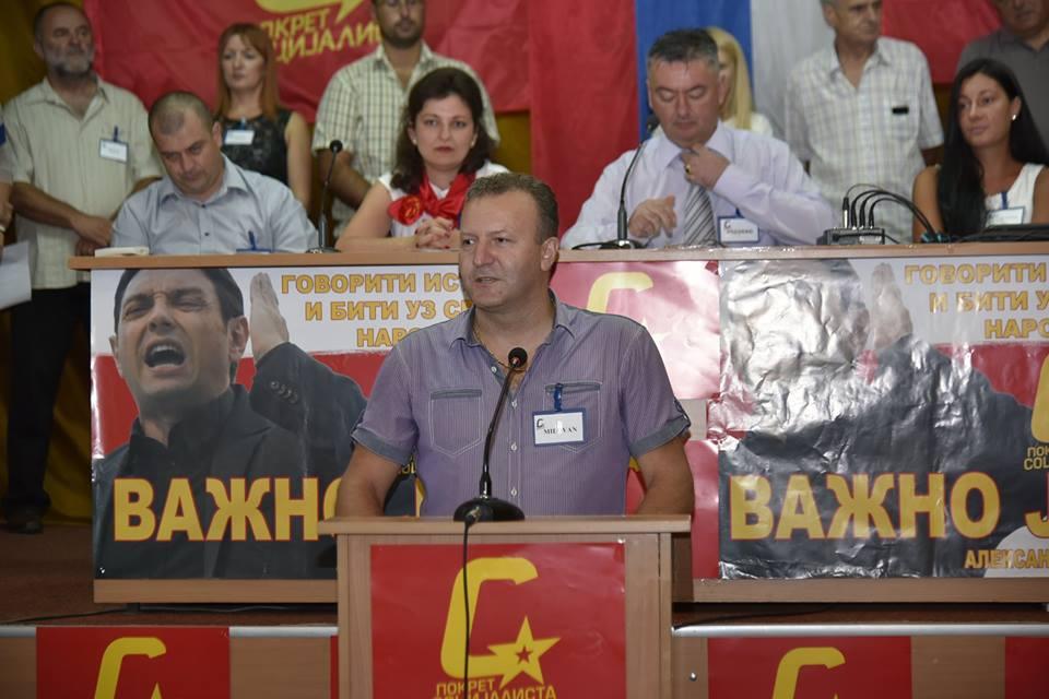 Milovan Milićević predsednik OO Pokreta socijalista u Prijepolju
