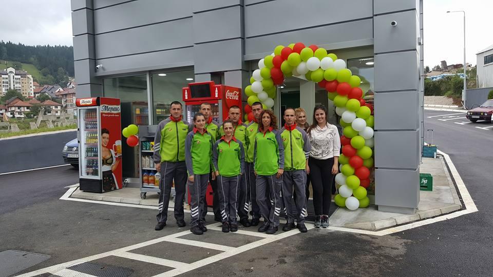 Savremena benziska pumpa otvorena u Novoj Varoši, radnici MOL-a