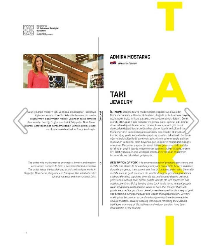 Admira Mostarac prestavlja Srbiju na 12. Internacionalnim susretima umetnika u Turskoj